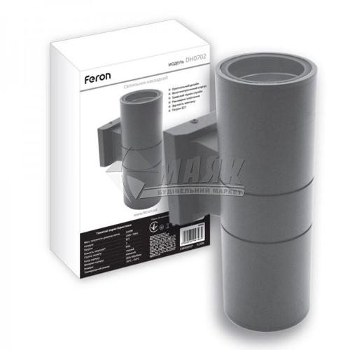 Світильник вуличний Feron DH0702 2×Е27 сірий
