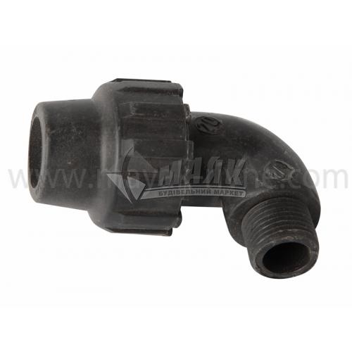 """Коліно для водопровідної труби VS Plast 20 мм 1/2"""" зовнішня різьба"""