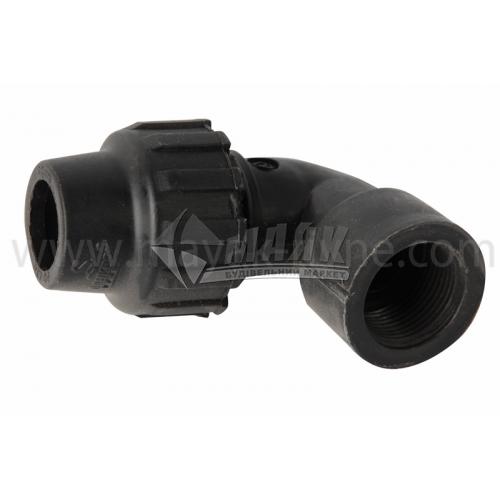 """Коліно для водопровідної труби VS Plast 20 мм 3/4"""" внутрішня різьба"""