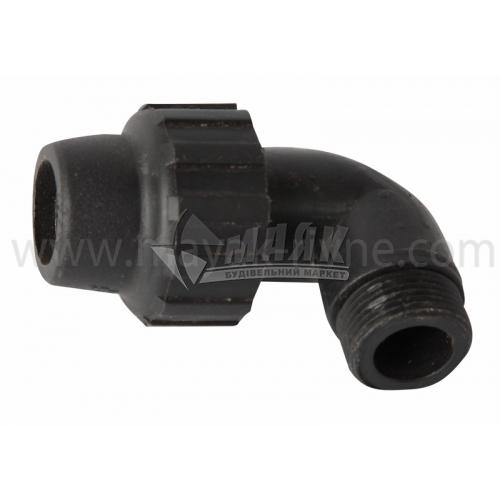 """Коліно для водопровідної труби VS Plast 20 мм 3/4"""" зовнішня різьба"""