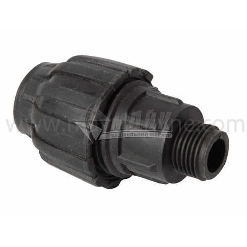 """Муфта для водопровідної труби VS Plast 20 мм 1/2"""" зовнішня різьба"""