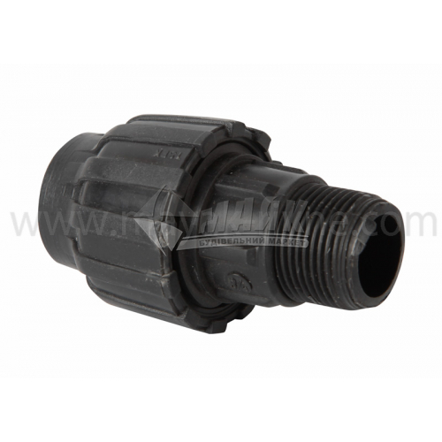 """Муфта для водопровідної труби VS Plast 20 мм 3,4"""" зовнішня різьба"""