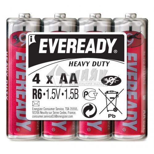 Батарейки EVEREADY AA Super Heavy Duty сольові (цинково-вугільні) 4 шт