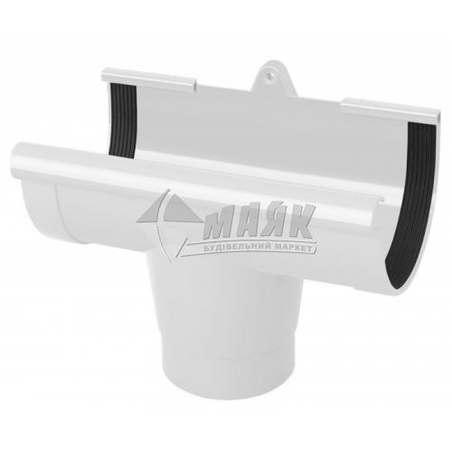 Лійка (воронка) ринви пластикова NewWay 120 мм біла
