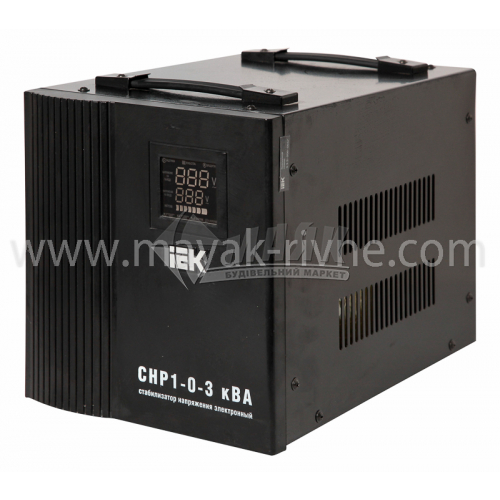 Стабілізатор напруги електронний IEK Home СНР1-0-3 переносний 3кВА