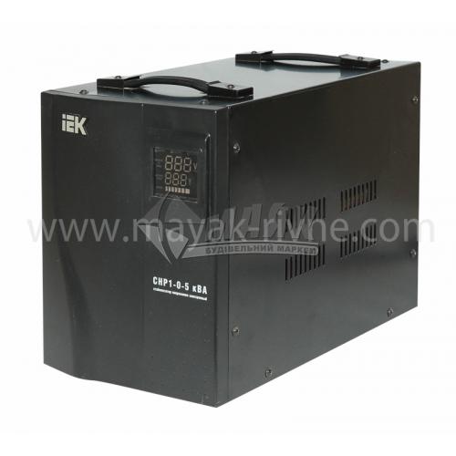 Стабілізатор напруги електронний IEK Home СНР1-0-5 переносний 5кВА