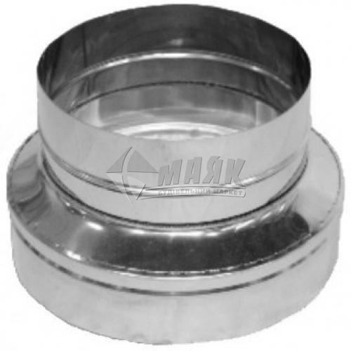 Перехід димоходу редукційний ВЕНТ УСТРІЙ 0,5×130×120 мм нержавіюча сталь/нержавіюча сталь 201