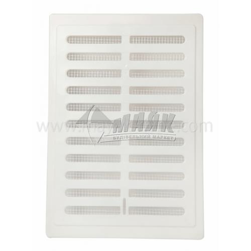 Решітка вентиляційна прямокутна Colibri KW 140×210 S 160×230 мм біла