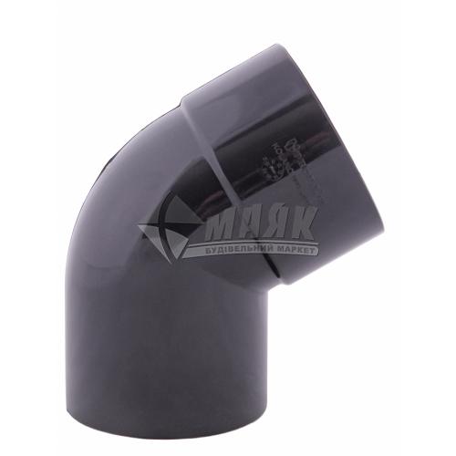 Коліно труби пластикове Profil 100 мм 60° 130/100 графіт