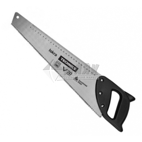 Ножівка по дереву Iskra 9TPI 400 мм гартовані зубці пластикова ручка