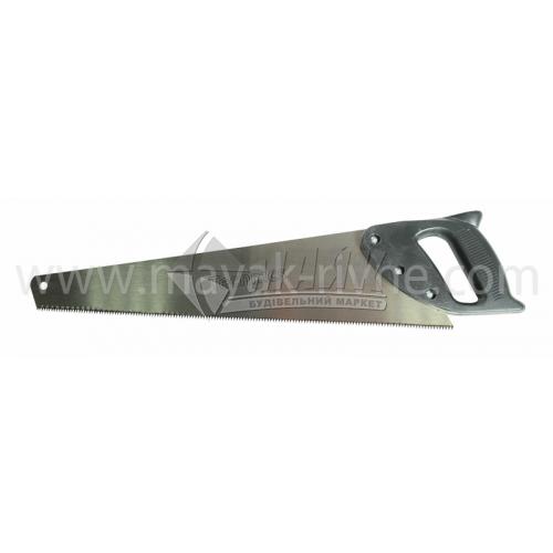 Ножівка по дереву Iskra 9TPI 450 мм гартовані зубці пластикова ручка