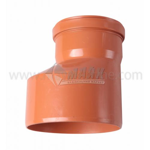 Перехід прямий ПВХ зовнішня каналізація Інсталпласт 160×110 мм