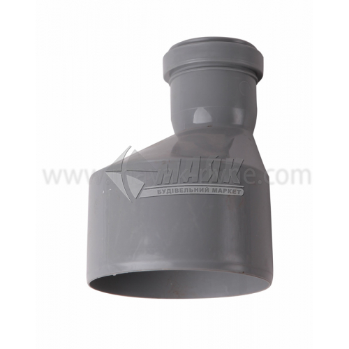 Перехід ПВХ внутрішня каналізація Інсталпласт 110×50 мм сірий