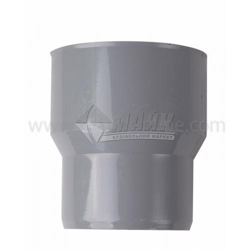 Перехід чавун/пластик внутрішня каналізація Інсталпласт 124×110 мм сірий
