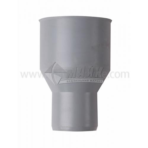 Перехід чавун/пластик внутрішня каналізація Інсталпласт 75×50 мм сірий