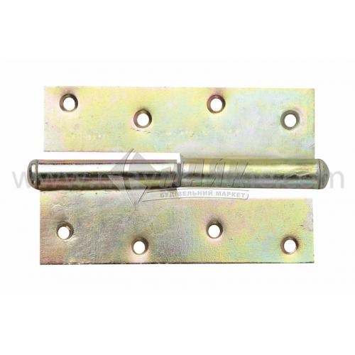 Петля дверна врізна ПВ 110 мм ліва оцинкована