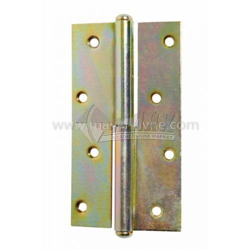 Петля дверна врізна ПВ 130 мм ліва оцинкована