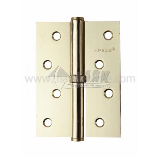 Петля дверна врізна Apecs 100×75-В-G-L ліва золото