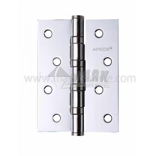 Петля дверна врізна Apecs 100×75-В4-СR універсальна хром