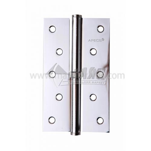 Петля дверна врізна Apecs 125×75-В-СR-R права хром