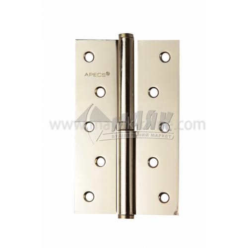 Петля дверна врізна Apecs 125×75-В-G-L ліва золото