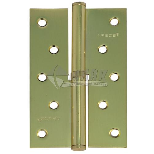Петля дверна врізна Apecs 125×75-В-GМ-R права золото матове