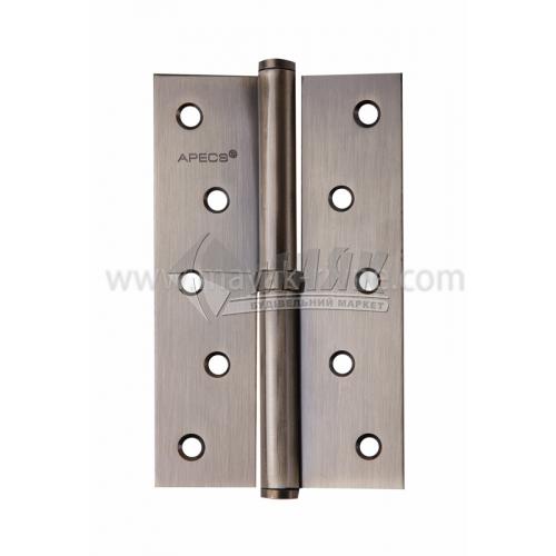 Петля дверна врізна Apecs 125×75-В-АВ-L ліва бронза