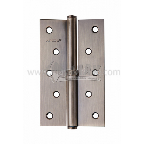 Петля дверна врізна Apecs 125×75-В-АВ-R права бронза