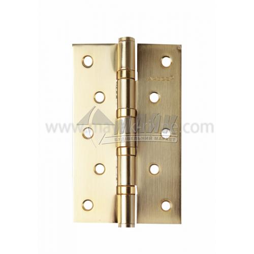 Петля дверна врізна Apecs 125×75-В4-GМ універсальна золото матове