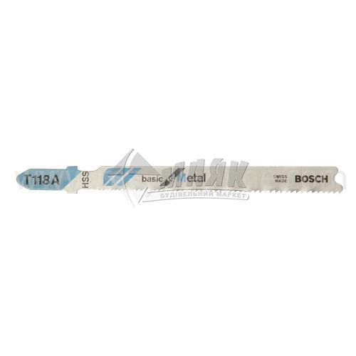 Пиляльне полотно для електролобзика по металу BOSCH T118A