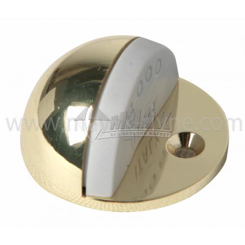 Стопор дверний напівкруглий Італія PB підлоговий золото
