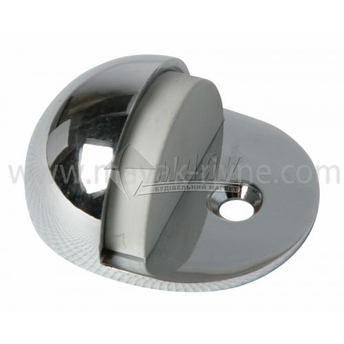 Стопор дверний напівкруглий Apecs DS-0002-CR підлоговий хром
