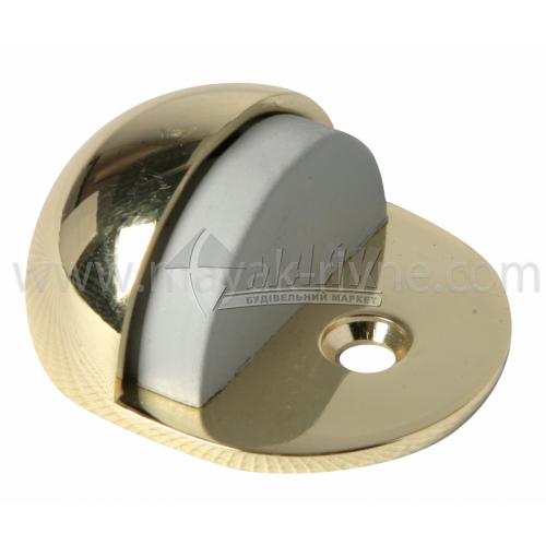Стопор дверний напівкруглий Apecs DS-0002-G підлоговий золото