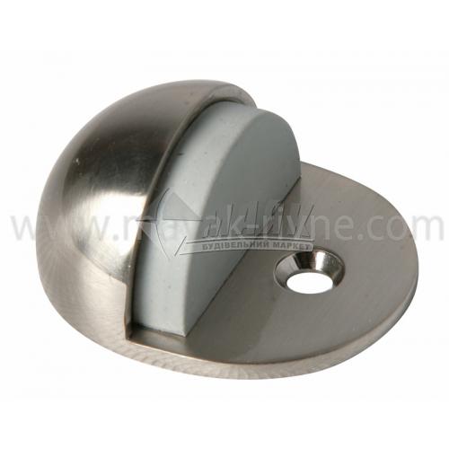 Стопор дверний напівкруглий Apecs DS-0002-S підлоговий сатин
