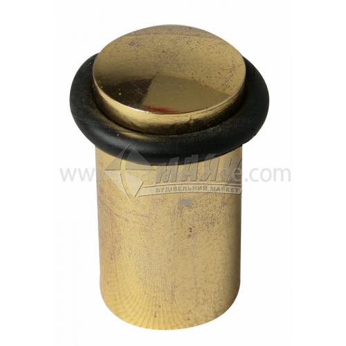 Стопор дверний циліндричний GP 60 мм підлоговий золото