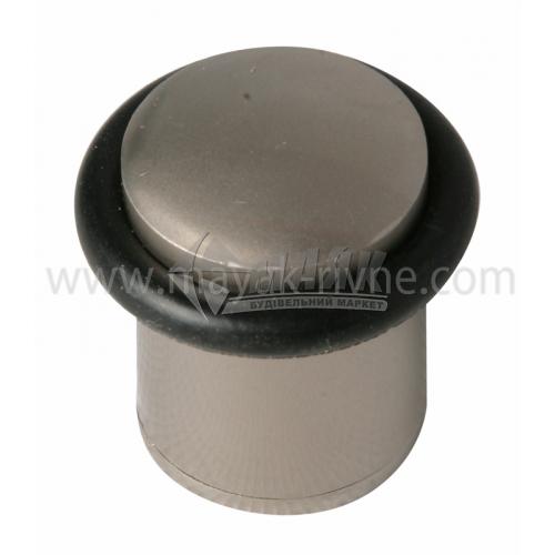 Стопор дверний циліндричний SN 40 мм підлоговий сатин