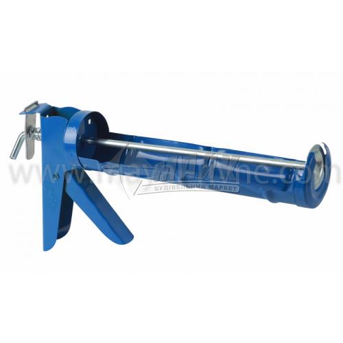 Пістолет для герметика зубчатий напівзакритий металевий