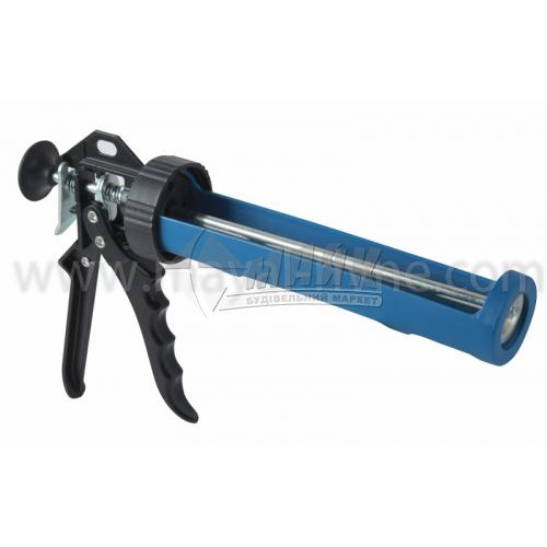 Пістолет для герметика напівзакритий пластиковий металева ручка