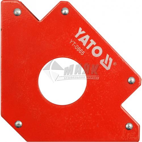 Струбцина магнітна для зварювання YATO 34 кг кутова 45°-90°-135°