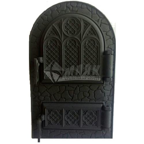 Дверцята спарені Булат ДС Микулин арочні 530×330 мм 12,87 кг