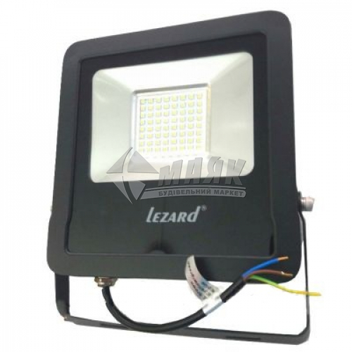 Прожектор світлодіодний Lezard 100Вт 6500°К чорний