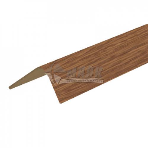 Профіль оздоблювальний ПВХ КСК Профіль У20 кутовий 20×20×2700 мм дуб темний