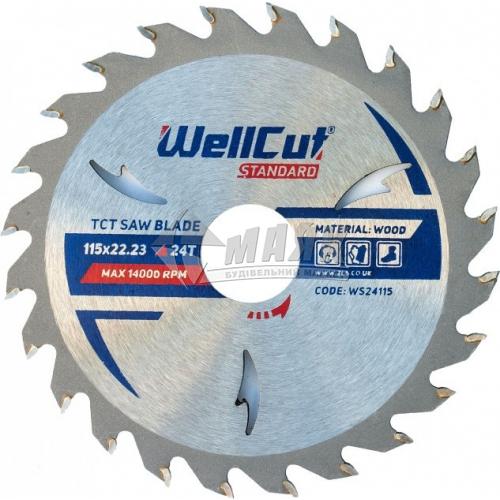 Диск пиляльний WellCut Standard 115×22,23 мм 24Т