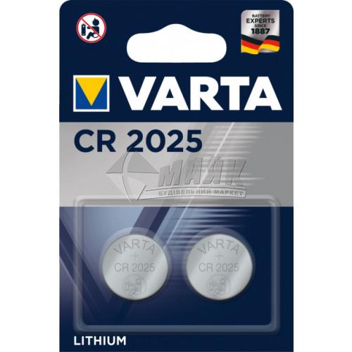 Батарейка VARTA CR2025 Lithium літієва 1 шт