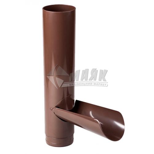 Відвід для збору води пластиковий Profil 75 мм 90/75 коричневий