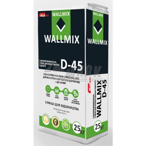 Самовирівнювальна підлога Wallmix D-45 шар 3-20 мм 25 кг