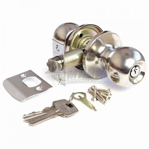 Ручка-замок (кнобсет) дверний Apecs 6072-01-CR хром