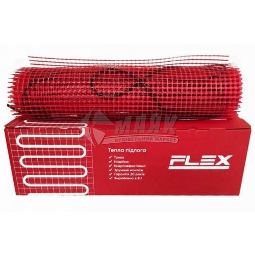 Мат нагрівальний для теплої підлоги двожильний FLEX Heating EHM-175 1,4кВт 8 кв.м