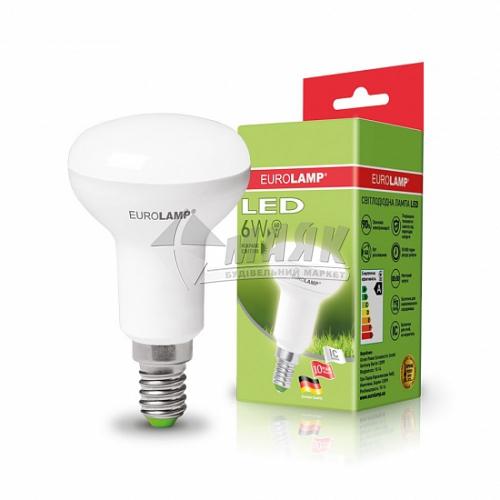 Лампа світлодіодна рефлекторна EUROLAMP 6Вт Е14 R50 4000°К (LED-R50-06144(Р))