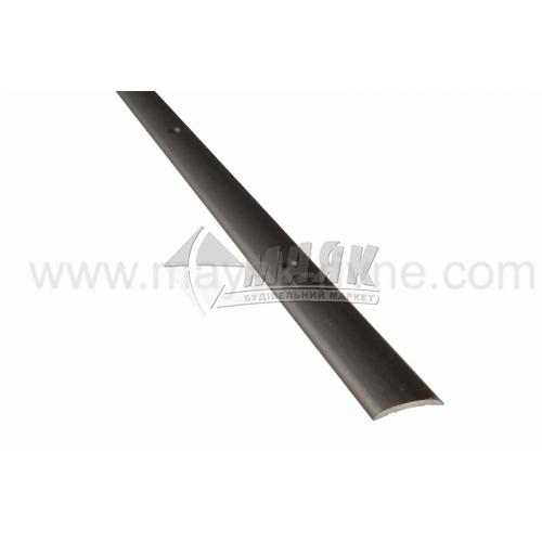 Планка поріжна алюмінієва TIS А020Г гладка 4×20×1800 мм бронза матова